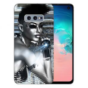 Samsung Galaxy S10e Silikon TPU Hülle mit Fotodruck Robot Girl Etui