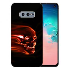 Silikon TPU mit Bilddruck Totenschädel für Samsung Galaxy S10e
