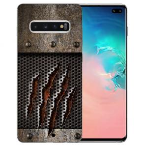 Samsung Galaxy S10 Plus Silikon TPU mit Fotodruck Monster-Kralle