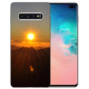 Samsung Galaxy S10 Plus Silikon TPU mit Fotodruck Sonnenaufgang