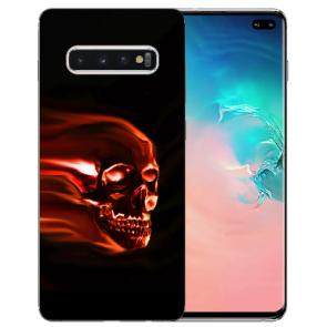 Samsung Galaxy S10 Plus Silikon TPU mit Totenschädel Fotodruck