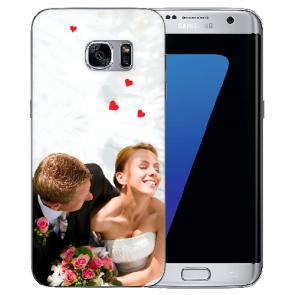 Samsung Galaxy S7 Edge Silikon TPU Case Schutzhülle mit Foto Druck