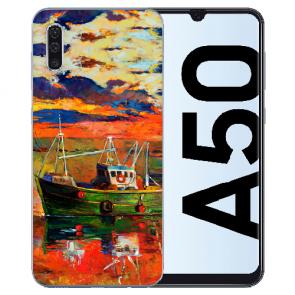 Silikon TPU Hülle mit Bilddruck Gemälde für Samsung Galaxy A50s Etui