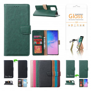 Schutzhülle für iPhone 12 Mini mit Displayschutz Glas Grün