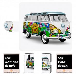 Sony Xperia 1 Personalisierte Handyhülle mit Hippie Bus + Fotodruck