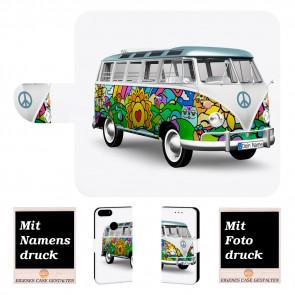 Schutzhülle Handy für Huawei P Smart mit Fotodruck Hippie Bus