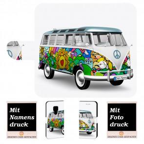 Personalisierte Handyhülle für Huawei Mate 20 mit Bilddruck Hippie Bus