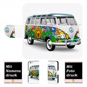 iPhone SE (2020) Handy Hülle mit Fotodruck Hippie Bus Etui