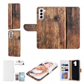 Handyhülle mit Bilddruck Holzoptik für Samsung Galaxy S21 Plus