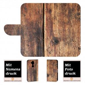 Personalisierte Handy Hülle Cover mit Holz + Foto Druck für Nokia 8.1