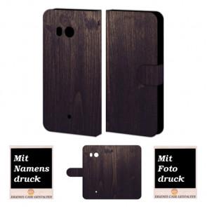 Schutzhülle Handy mit Holz Optik Bilddruck für HTC U11