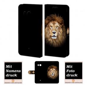 HTC U11 Handyhüllen mit Bild Foto und Text online selbst gestalten Löwe