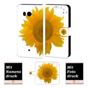 Individuelle Handyhülle für HTC U11 mit Sonnenblumen + Bild Druck