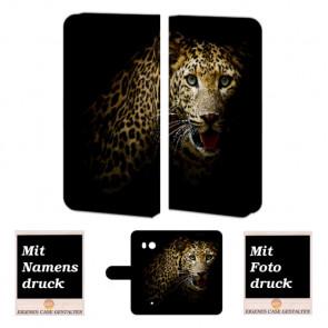 HTC U11 Individuelle Handyhülle mit Leopard Fotodruck Etui