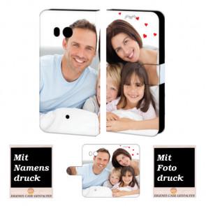 HTC U11 Personalisierte Handyhülle mit Fotodruck Etui
