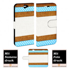 HTC One A9 Personalisierte Handy Tasche mit Bild Druck Muster