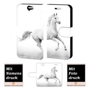 HTC One A9 Individuelle Handy Tasche Hülle mit Bild Druck Pferd