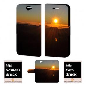 HTC One A9 Handy Tasche Hülle mit Bild Druck Sonnenaufgang