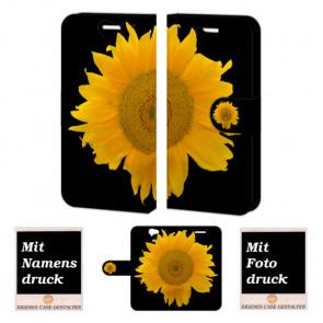 HTC One A9 Schutzhülle Handy Tasche mit Bild Druck Sonnenblumen