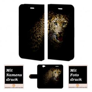 HTC One A9 Handy Tasche Hülle mit Leopard Bild Druck Etui
