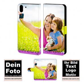 PU-Ledertasche Handy Hülle für HTC Desire Eye mit Fotodruck Text