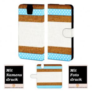 HTC One E9 Plus Muster Handy Tasche Hülle Foto Bild Druck