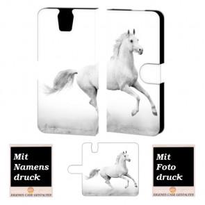 HTC One E9 Plus Pferd Handy Tasche Hülle Foto Bild Druck
