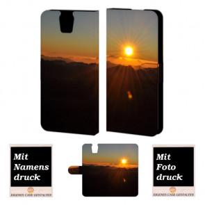 HTC One E9 Plus Sonnenaufgang Handy Tasche Hülle Foto Bild Druck