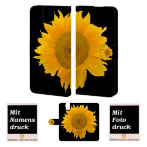 HTC One E9 Plus Sonnenblumen Handy Tasche Hülle Foto Bild Druck