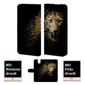 HTC One E9 Plus Tiger Handy Tasche Hülle Foto Bild Druck