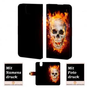 HTC One E9 Plus Totenschädel Handy Tasche Hülle Foto Bild Druck