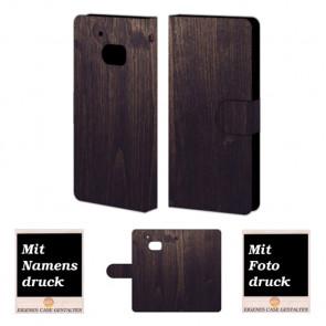 HTC M10 Holz Optik Handy Tasche Hülle Foto Bild Druck