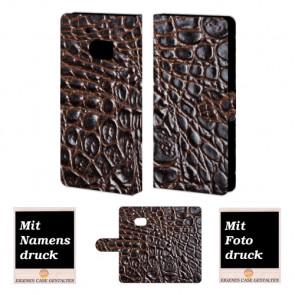 HTC M10 Krokodil Optik  Handy Tasche Hülle Foto Bild Druck