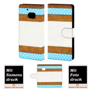 HTC M10 Muster Handy Tasche Hülle Foto Bild Druck