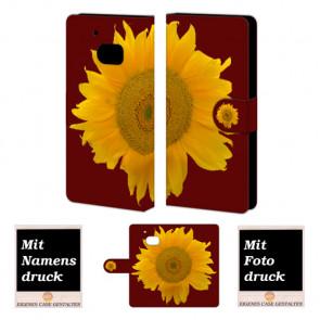 HTC M10 Sonnenblumen Handy Tasche Hülle Foto Bild Druck