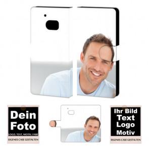 Ledertasche Schutzhülle für HTC M10 mit Fotodruck