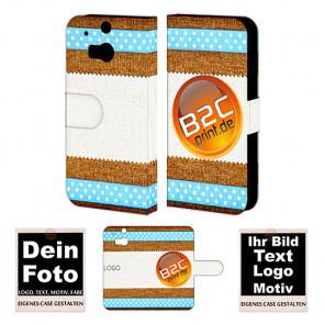 Individuelle Handy Tasche für HTC One M8 mit Fotodruck Text