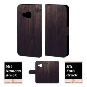 HTC One M9 Holz Optik Handy Tasche Hülle Foto Bild Druck