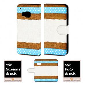 HTC One M9 Muster Handy Tasche Hülle Foto Bild Druck