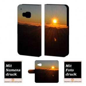 HTC One M9 Sonnenaufgang Handy Tasche Hülle Foto Bild Druck