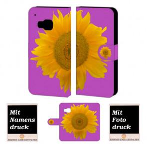 HTC One M9 Sonnenblumen Handy Tasche Hülle Foto Bild Druck