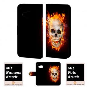 HTC One M9 Totenschädel Handy Tasche Hülle Foto Bild Druck
