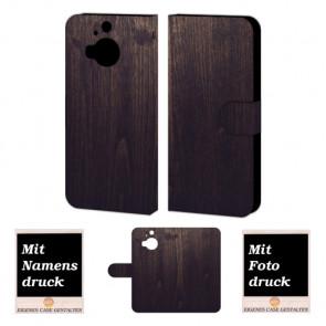 HTC One M9 Plus Holz Optik Handy Tasche Hülle Foto Bild Druck