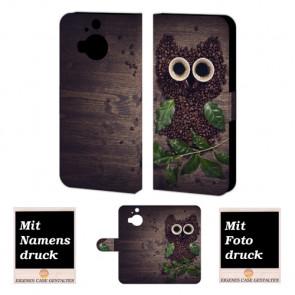 HTC One M9 Plus Kaffee Eule Handy Tasche Hülle Foto Bild Druck