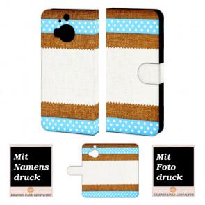 HTC One M9 Plus Muster Handy Tasche Hülle Foto Bild Druck
