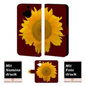 HTC One M9 Plus Sonnenblumen Handy Tasche Hülle Foto Bild Druck
