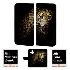 HTC One M9 Plus Tiger Handy Tasche Hülle Foto Bild Druck