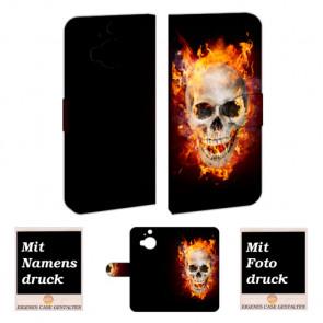 HTC One M9 Plus Totenschädel Handy Tasche Hülle Foto Bild Druck