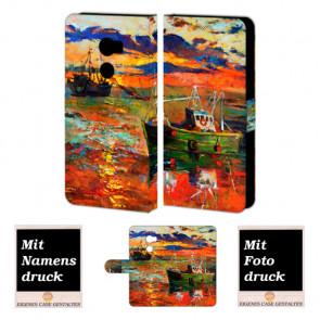 HTC One X10 Schutzhülle Handy Tasche mit Foto Druck Gemälde