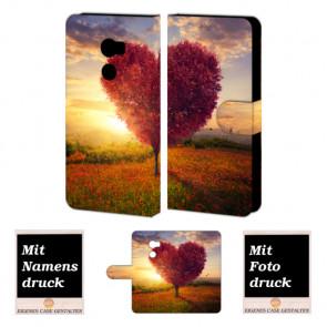 HTC One X10 Individuelle schutzhülle Personalisierte Tasche Bild Foto Herzbaum